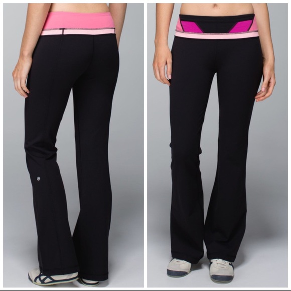 dca4d47c2a2 lululemon athletica Pants | Lululemon Groove Black Reversible Yoga ...